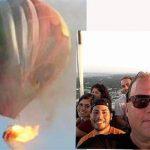 آخرین سلفی ۱۶ سرنشین بالنی که در تگزاس آمریکا سقوط کرد/ همه سرنشینان این بالن کشته شدند+ عکس