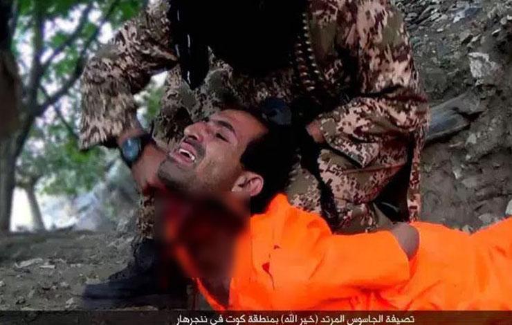 گردن زدن فجیع یک مرد در ولایت خراسان ! داعش + تصاویر ۱۴+