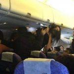 فرود اضطراری هواپیما بخاطر دعوای زنانه+عکس