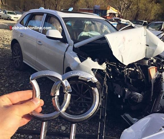 """اولین تصادف """"آئودی شاسی بلند"""" در ایران را ببینید + عکس"""
