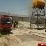 آتشسوزی وحشتناک مخازن گازوئیل در کازرون