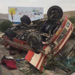 واژگونی اتوبوس تایباد – تهران در شاهرود کشته برجای گذاشت