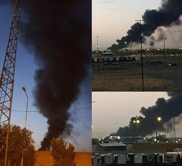 آتشسوزی در کارخانه ظروف