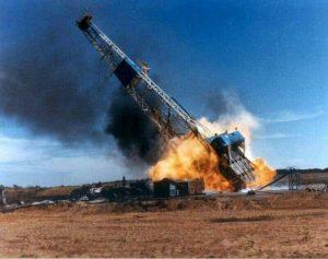 آتش سوزی دکل نفتی رگ سفید | ۴ کشته در آتش سوزی میدان نفتی