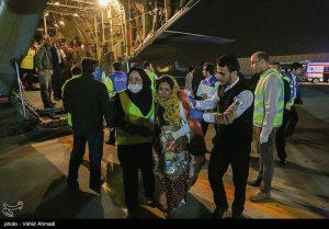 ورود پنجمین گروه از مصدومان زلزله کرمانشاه به مهرآباد