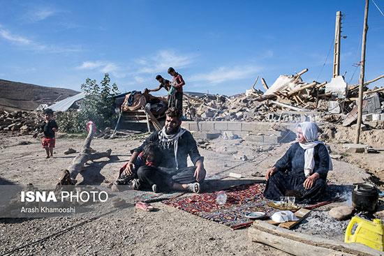 زلزله در روستاهای کرمانشاه