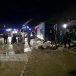 علت واژگونی اتوبوس در محور سوادکوه