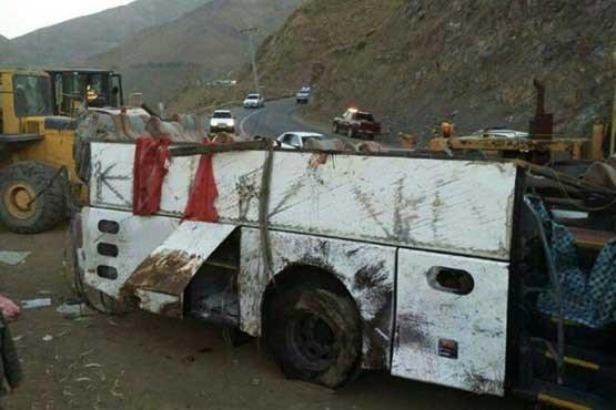 واژگونی اتوبوس زائران ایرانی | آخرین وضعیت و اسامی مصدومان