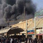 آتش سوزی هتلی در نجف  ۴۳ زائر ایرانی مصدوم شدند