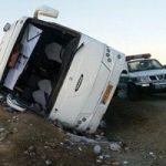 ۷ کشته در اثر واژگونی اتوبوس ولوو در اصفهان