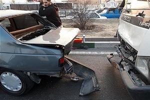تصادف زنجیره ای ۷ خودرو در بزرگراه فتح!