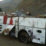 واژگونی اتوبوس در محور سروستان – شیراز | ۲۲ نفر مصدوم شدند