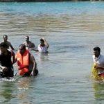 غرق شدن مسافر نوروزی در رودخانه هنگام شنا !