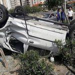 تصاویری از تصادف شدید پژو ۲۰۶ با تندر۹۰ در بزرگراه آزادگان