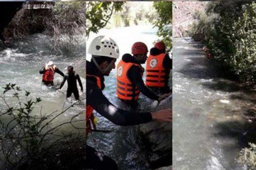 غرق شدن دختر در رودخانه کرج