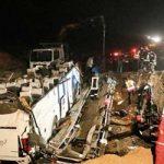 واژگونی اتوبوس مشهد-اصفهان با ۲۷ کشته و زخمی!!