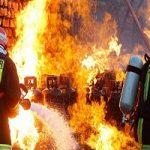 تصاویری از انفجار و آتش سوزی مهیب جایگاه گاز مایع در قم!