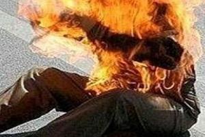 خودسوزی مرد ۳۷ ساله در همدان با بنزین!