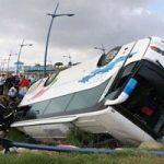 واژگونی مرگبار اتوبوس در جاده مرودشت با چندین کشته و زخمی!
