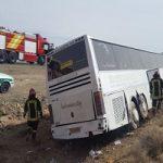 جزئیات واژگونی اتوبوس در اتوبان زنجان به تبریز با ۳۲ مصدوم و فوتی!