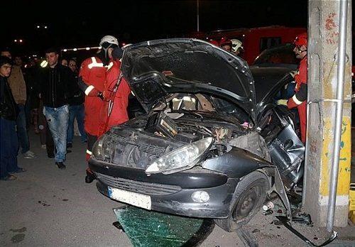 تصاویری وحشتناک از تصادف خودرو ۲۰۶ با قطار تبریز به مشهد