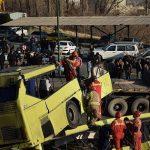 پیگیری از تصادف اتوبوس دانشگاه علوم تحقیقات توسط سه تیم کارشناسی