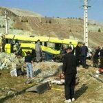 اسامی جانباختگان حادثه واژگونی اتوبوس دانشگاه آزاد