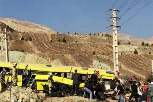 واژگونی اتوبوس حامل دانشجویان