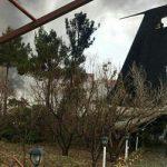 سقوط بوئینگ ۷۰۷ باری ارتش دقایقی پیش در کرج + عکس