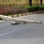 سقوط تیر برق جان کارگر جوان را گرفت