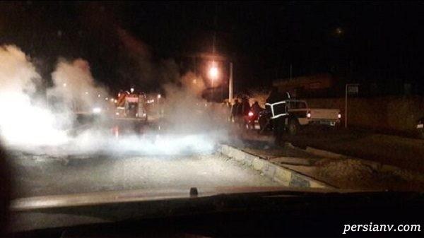 ضرب و شتم مامور آتش نشانی در عملیات نجات !