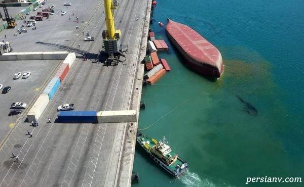 غرق شدن کشتی در بندرعباس