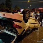 تصادف هولناک دو پژو ۲۰۶ در بزرگراه امام علی(ع) تهران ! + تصاویر