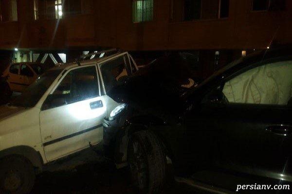 ماجرای عجیب و خاصِ تصادف یک پورشه با پراید در اصفهان! + تصاویر
