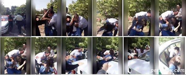 برخورد پلیس با دختر تهرانپارس