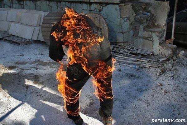 خودسوزی مردی در تهران