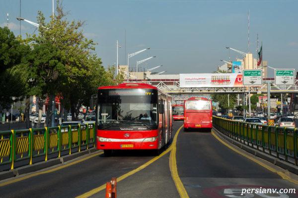 زن خلافکار تهران توسط راننده اتوبوس بی آر تی در ایستگاه زندانی شد !