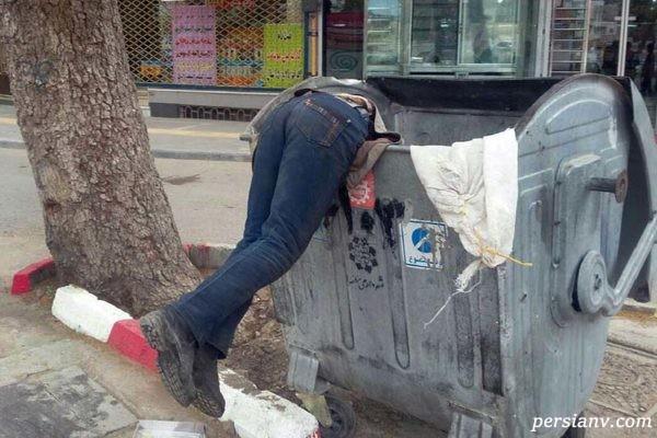 مرد زباله گرد