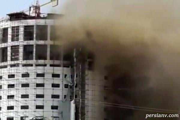 هتل آسمان شیراز پلاسکویی دیگر شده است | ۱۴ ساعت است می سوزد !