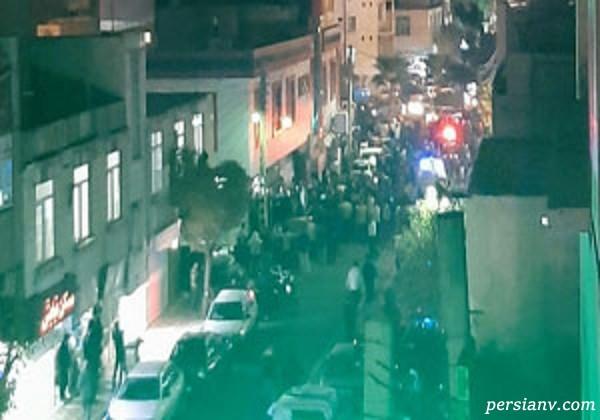 گزارش ویدئویی از تیراندازی به قهوه خانه در خاتم الانبیا تهران