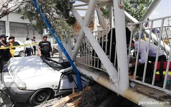 سقوط پل عابر پیاده