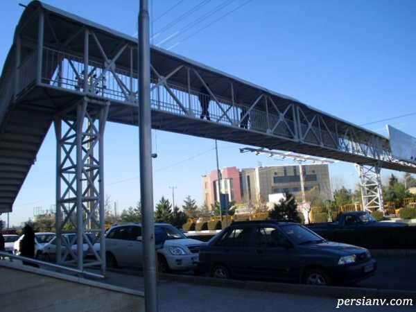 سقوط پل عابر پیاده در بهارستان تهران حادثه آفرید