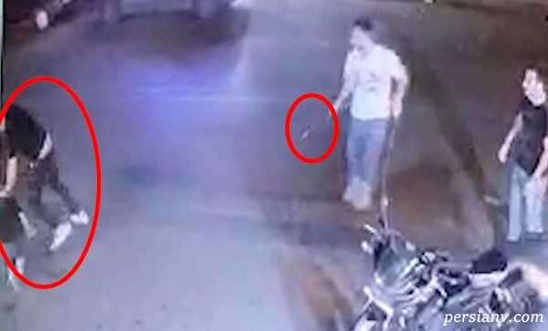 صحنه وحشتناک از قتل گنده لات تهران وسط خیابان