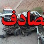 تصادف وحشتناک پژو پارس و راننده ۴۰۵ در حاشیه جاده