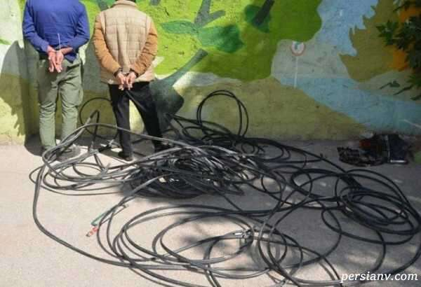 سرقت کابل های تلفن