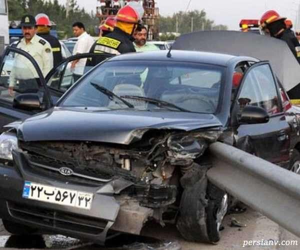 پرت شدن راننده از خودرو
