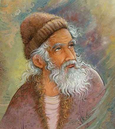 غزل شماره ۱۴۸ حافظ : یارم چو قدح به دست گیرد