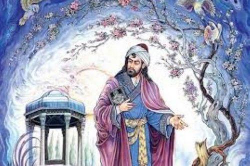 غزل شماره ۷۷ حافظ : بلبلی برگ گلی خوش رنگ در منقار داشت