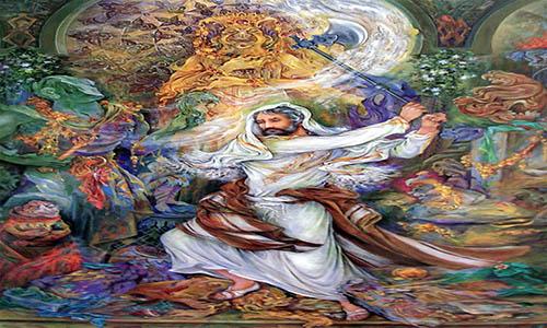 غزل شماره ۴۹۱ حافظ : به چشم کردهام ابروی ماه سیمایی