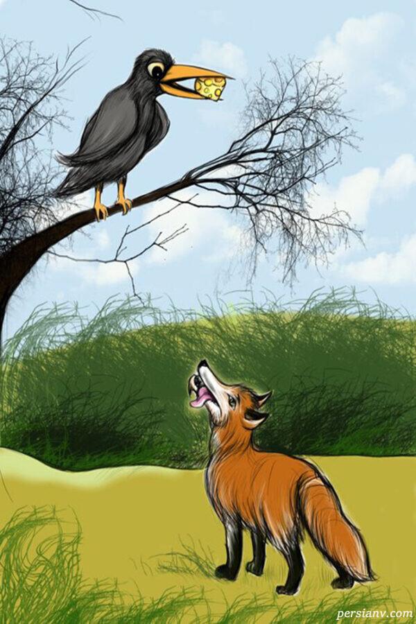 حکایت مهمانی کلاغ و روباه